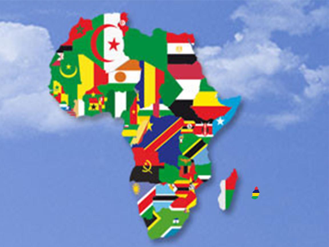 Les differents pays d'afrique avec drapeaux